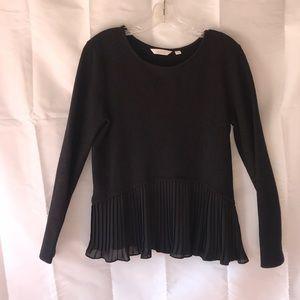 Lauren Conrad Black Sweater Ruffled Medium